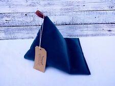 NEW Handmade Tablet Velvet Dark Blue Pillow Ipad Cushion Stand Kindle beanbag