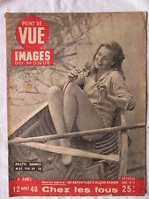 POINT DE VUE IMAGES DU MONDE 12  (1948) ARLETTE BRANDES MISS PIN-UP