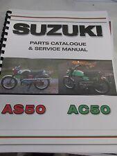 Suzuki AS50 AC50   parts& service combo  manual   1968-1971
