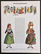 Betsy McCall Mag. Paper Doll, Betsy McCall Writes from Spain, Aug. 1971