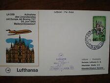 LUFTHANSA FFC 202, 1965 ITALY - GERMANY , Milan - Dusseldorf LH 339