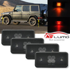 4pcs Smoked Front&Rear Led Side Marker Light For Mercedes Benz G500 G550 G55 G63