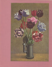 "Paquebot ""FRANCE"" Luncheon Menu , 1960s ; Flowers"