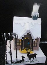 Christmas decoration village house T light lamp with Reindeers table decoration