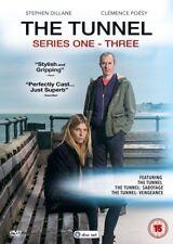 THE TUNNEL 1-3 2013-2017: TV Season Series 1 + 2 SABOTAGE + 3 VENGEANCE - DVD UK