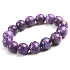 14mm Natural Purple Charoite Crystal Round Beads Stretch Bracelet AAA