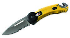 Buck Knives 753 Redpoint Rescue, Yellow Folding Knife 753YWX