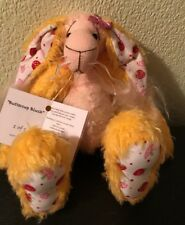 Bunny Sweetheart buttercup blush .wee berry tales sweet bunny  100% mohair COA