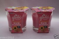 LOT 2 GLADE PICTURE PERFECT SUN FLOWER SCENTED 1-WICK CANDLE PINK 3.8 OZ EA NEW