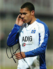 NIGEL DE JONG IN HAMBURGER SV KIT HANDSIGNED 8 x 6 COLOUR PHOTOGRAPH