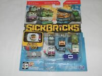 Sick Bricks Spin Master -5 Figure Pack - City Vs Monster  Swat Police Zombie