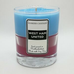 West Ham United colours - Personalised Soy Wax Candle - 20cl