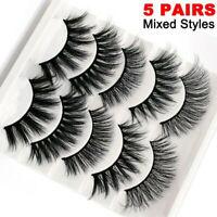 5 Pairs 3D Natural False Eyelashes Long Thick Fake Eye Lashes Makeup Mink 3D-55