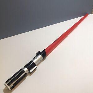 STAR WARS DARTH VADER Electronic Red Lightsaber Hasbro 2009 Anakin Skywalker