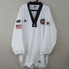 VTG Adidas Mens 7 210 cm Rare Korea Taekwondo Jewoo Sports Uniform Shirt A340