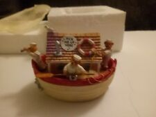 MUSIC JEWELLERY BOX BEARS IN A BOAT PLAYS ROW ROW ROW YOUR BOAT