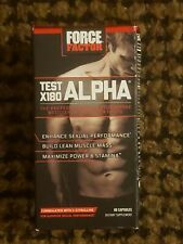 Force Factor Test X180 Alpha Free Testosterone Booster, 60 caps, Exp: 03/2024