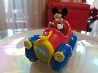 Rarissimo Auto di Topolino In Plastica con Walt Disney alto 10Cm Da collezione