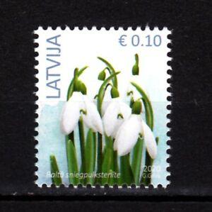 "LATVIA 2020-10 Definitive: FLORA Flower. 0.10E Reprint with date ""2020"", MNH"