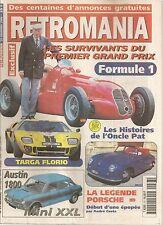 RETROMANIA 77 AUSTIN MORRIS 1800 PORSCHE 356 PEUGEOT 601 TARGA FLORIO 2000