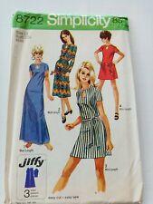 Simplicity Vintage Sewing Pattern Dress Uncut - Size 10 - 1970's - VPS086-8722