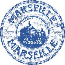 """Marseille France Travel Grunge Stamp Car Bumper Sticker Decal 5"""" x 5"""""""