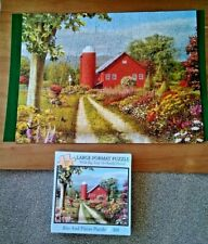 Bits And Pieces COUNTRYSIDE AFTERNOON 300 LARGE PIECE Jigsaw Puzzle - Complete.