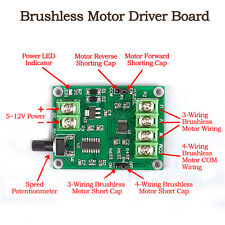 DC Micro Mini Brushless Motor Driver Board Speed Controller Module 7V-12V 1.2A