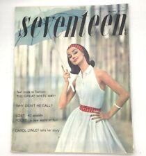 Vtg 1958 SEVENTEEN magazine - May issue Carol Lynley Chemise Demiskirts Ads!