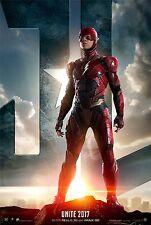 Justice League Movie Poster (24x36) - Gal Gadot, Ezra Miller, The Flash v7