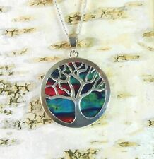 Heather Tree of Life Pendant Handmade & Silver Plated Necklace  HG-13E