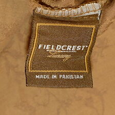 Linens Pillowcase King Floral Caramel Brown Fieldcrest Luxury Vintage Supim