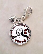 925 Sterling Silver Charm Kendo 剣道 kenjutsu Japanese martial art