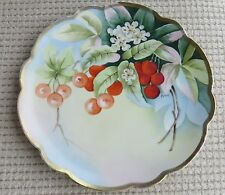 Hand Painted Vienna China Plate with Plums Signed Holden