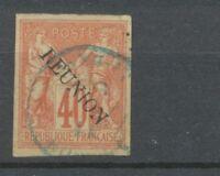 Colonies Françaises REUNION N°14 (B) 40c rouge-orange Obl signé Cote 60€ N2751