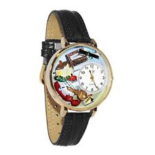 Whimsical Watches Unisex G0610006 Realtor Black Leather Watch