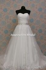 1576 White Ivory wedding dress A-line sweetheart lace princess any plus size UK