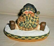 Crazy Mountain Snowman Candle Jar Topper