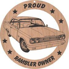 1966 Rambler Hardtop Wood Ornament Engraved