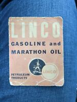Original 1930s Linco Motor Oil Can Sewing Needle Gas Station Giveaway Ohio Oil