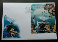 Solomon Islands Minerals 2012 Volcano Stone Gemstone Mountain (miniature FDC)