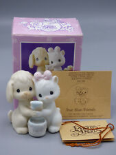 "Precious Moments ""True Blue Friends"" BC-912 Dog & Cat Figurine 1991 Members Only"