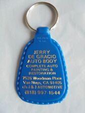 Cool Vintage Jerry De Gracio Auto Body Van Nuys CA Advertising Keychain