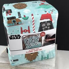 Star Wars Christmas Full Flannel Sheet Set - 4 Pieces