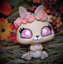 Littlest Pet Shop Forest Spirit bunny OOAK custom figure LPS chibi crown flowers