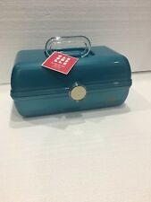 CABOODLES On the Go Girl Seafoam Teal Makeup Cosmetics Case - NEW!