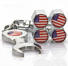 Chevrolet America USA Wrench Keychain Wheel Tyre Tire Valve Stems Caps Cap