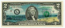 Colorized 2 Dollar Federal Reserve Note - Life's a Beach Bill Original Beach Art