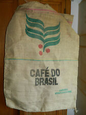 SAC en TOILE de JUTE CAFE BRESILIEN linen bag COFIROASTERS brasil BRESIL coffee