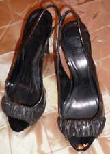 BURBERRY FAB shoes, open toe and back, elegant with unique style , dust bag